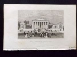 Dugdale C1840 Antique Print. Great Thornton St. Chapel, Hull